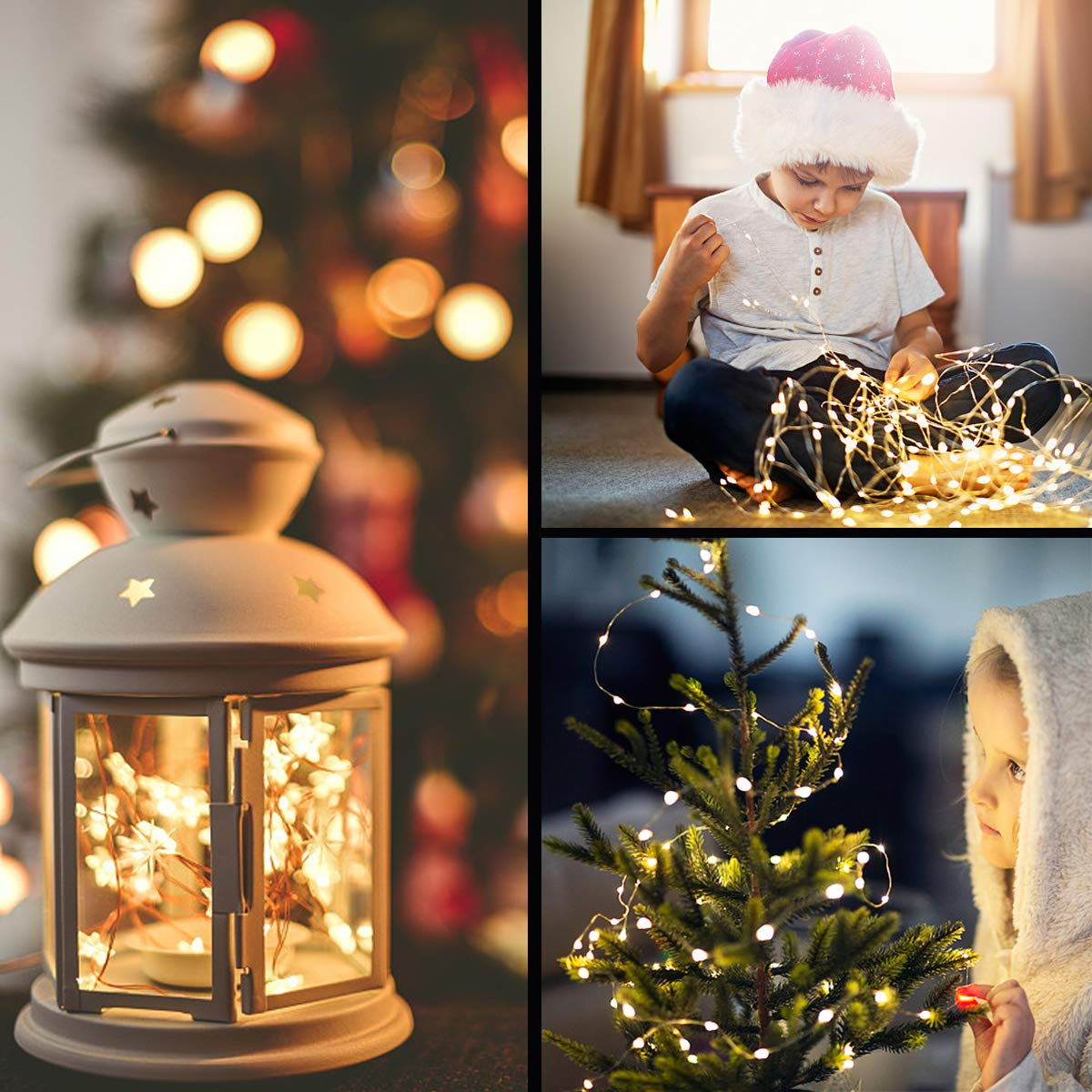 YMTC Fairy Lights,100 LEDs Battery Operated String Lights,Remote Control Silver Wire /& 8 Modes,Icicle Twinkle Lights for Window Bottle Wedding Holiday Party Kids Warm,8Ft,Pack of 2