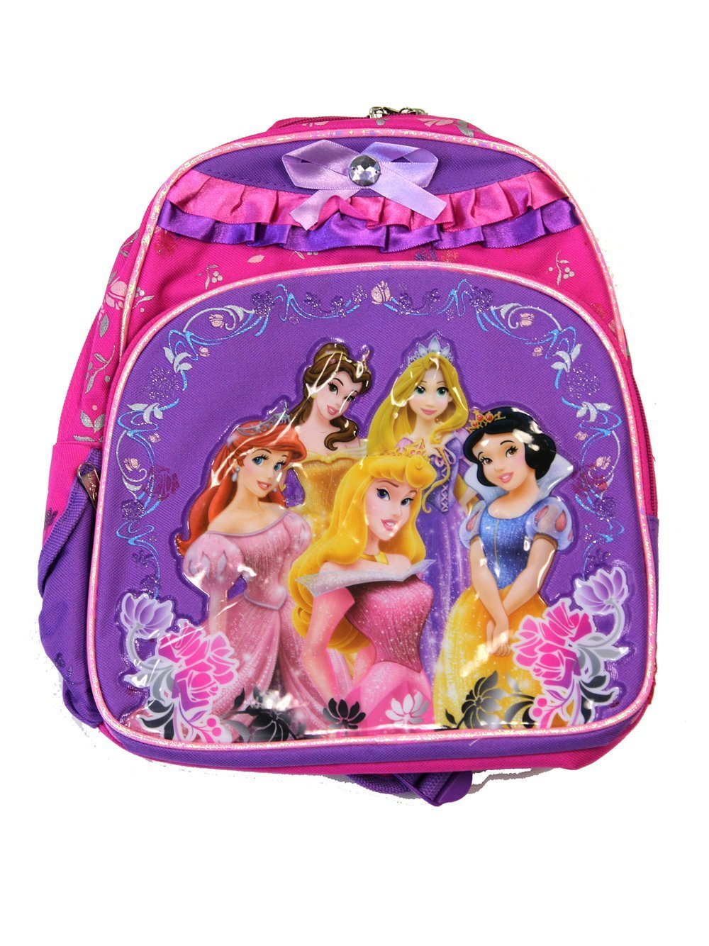 Small Size Pink and Purple Disney Princess Backpack  Disney Princess Bookbag