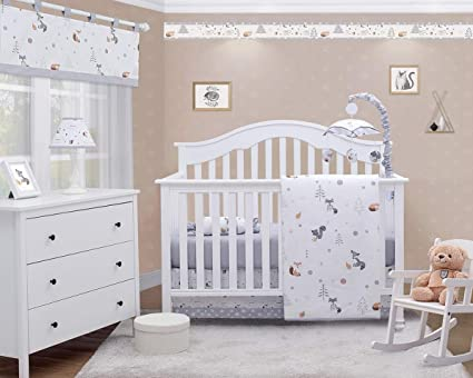 OptimaBaby Woodland Forest Deer 6Piece Baby Nursery Crib Bedding Set