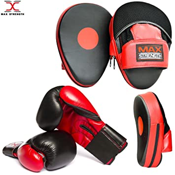 Focus Pads Set Hook /& Jabs Mitts Punch Bag Gym Training MMA