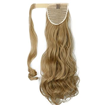 Amazon s noilite new 1845cm curly ash blonde wrap s noilite new 18quot45cm curly ash blonde wrap ponytail clip in pmusecretfo Image collections