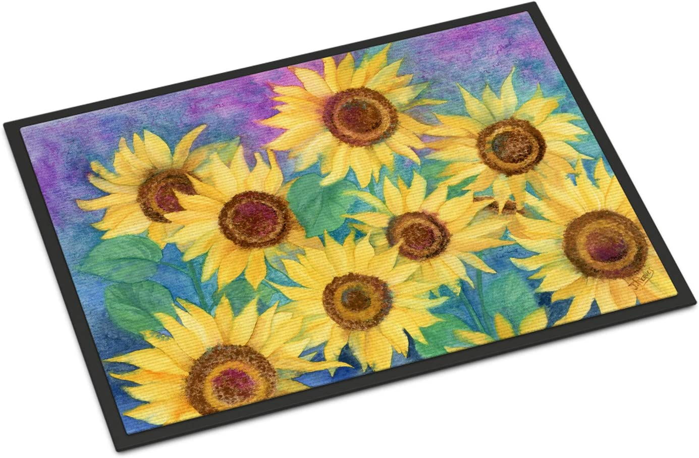 Caroline s Treasures IBD0247JMAT Sunflowers and Purple Indoor or Outdoor Mat 24×36, 24H X 36W, Multicolor