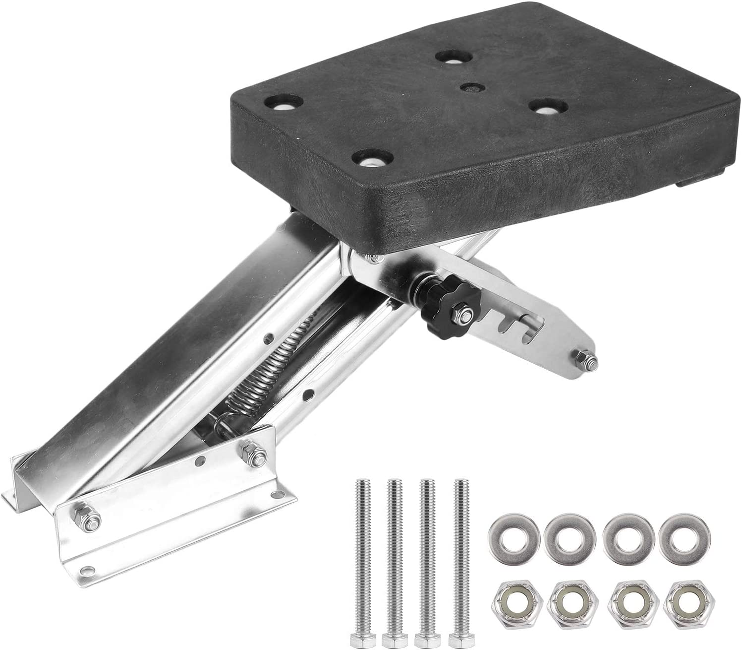 Bicaquu Outboard Motor Bracket 304 Stainless Steel Boat Motor Stand for Boat Steamship