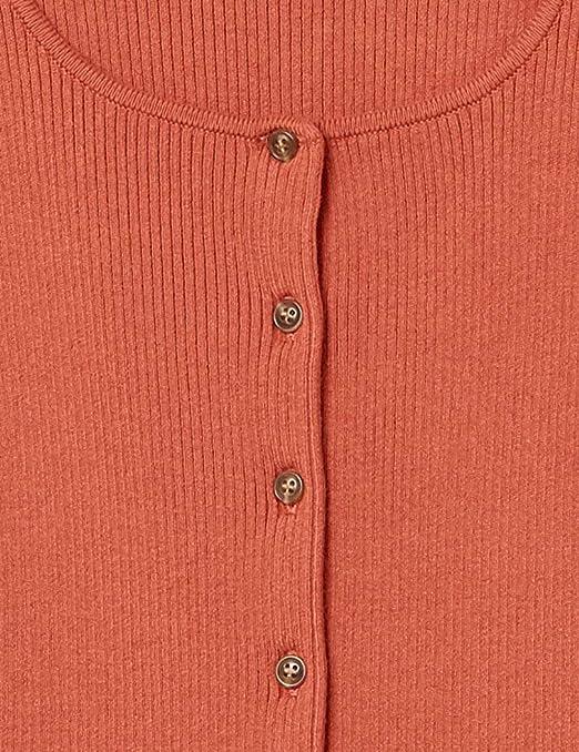 kurze /Ärmel rechteckiger Ausschnitt Knopfleiste vorne von The Drop Marke:  Damen Strickweste Maxine gerippt