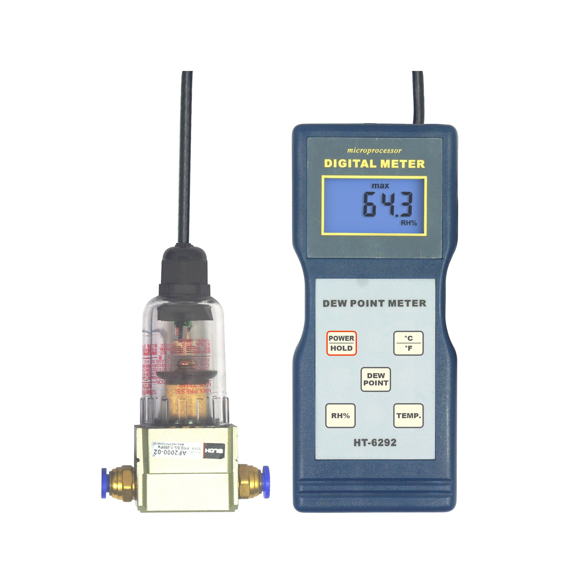 Landtek Humidity, Temperaturer, Dew Point Temperature Meter -40~40°C HT-6292 10~95%RH -10~60ºC(14~140ºF) for Workshops, Offices, Plantes, Libraries, Laboratories and Warehouses
