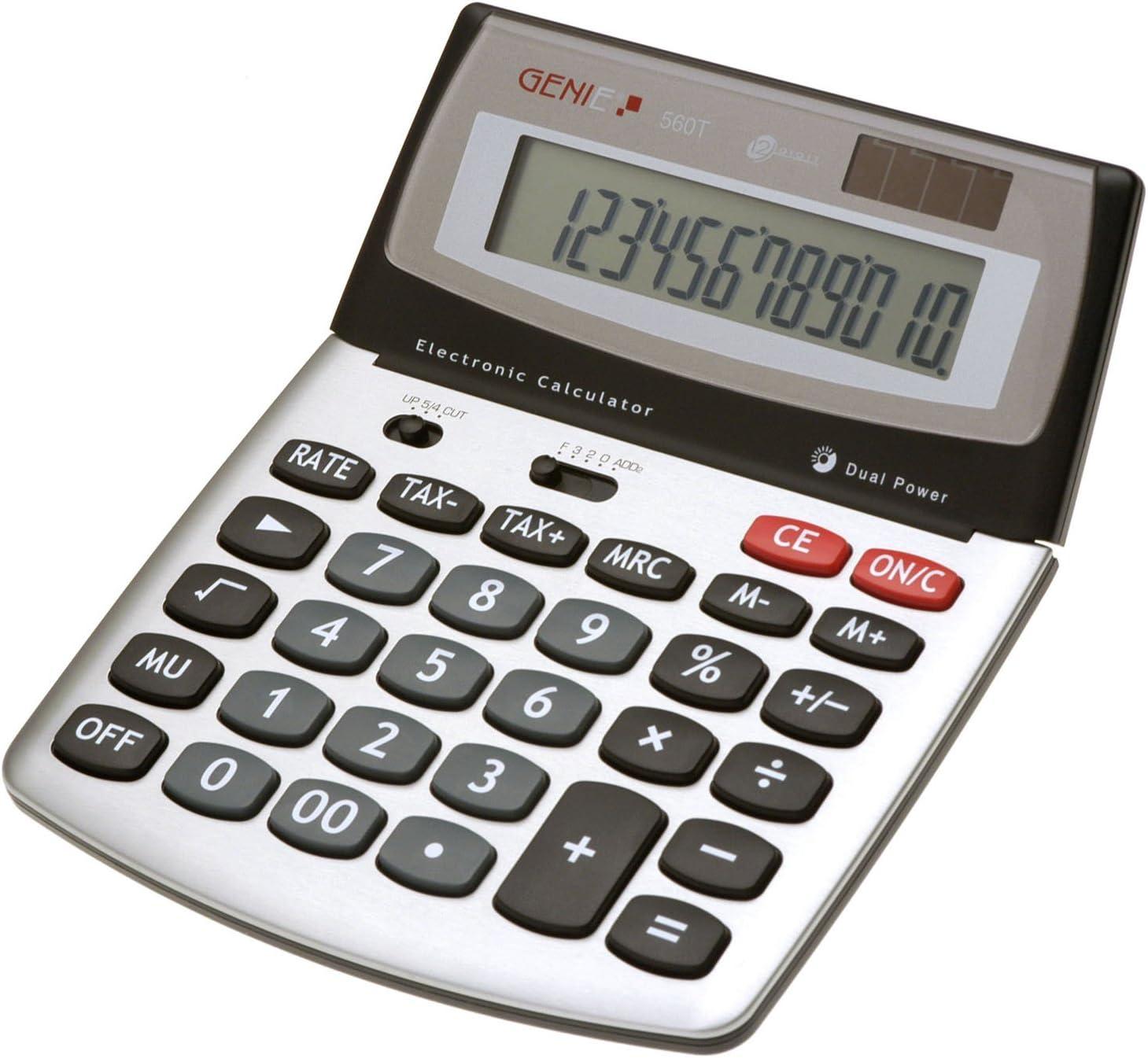 Genie 222 Tischrechner 12-stellig Batterieund Solarbetrieb