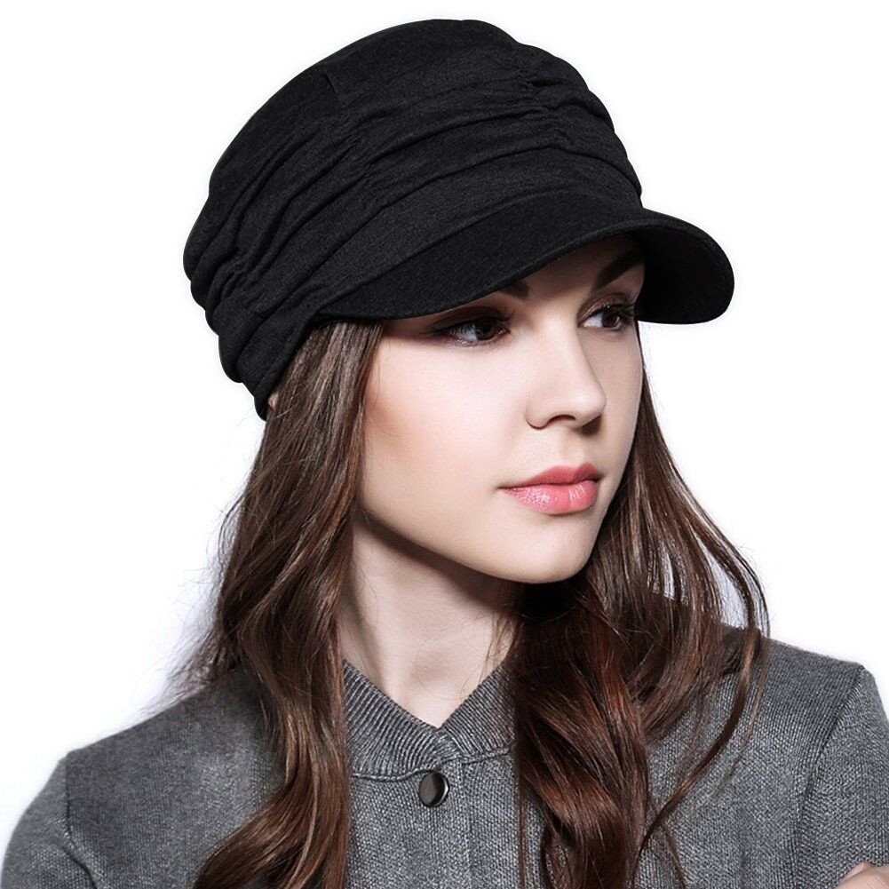 ANMIDE Womens Newsboy Cabbie Hat Beret Cap Cloche Cotton Painter Visor Hats Summer Sun Hat