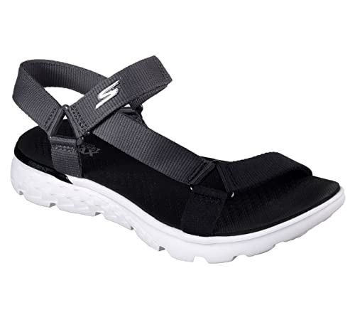 80f8feb7fb015 Skechers On The Go 400 Jazzy Womens River Sandals Black Gray 5