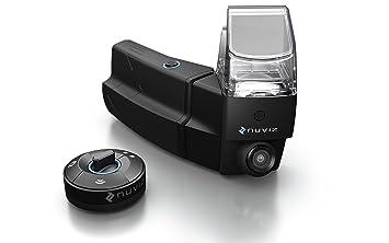 Nuviz - Pantalla de cabecera para motocicleta con navegación integrada, comunicación, cámara y música