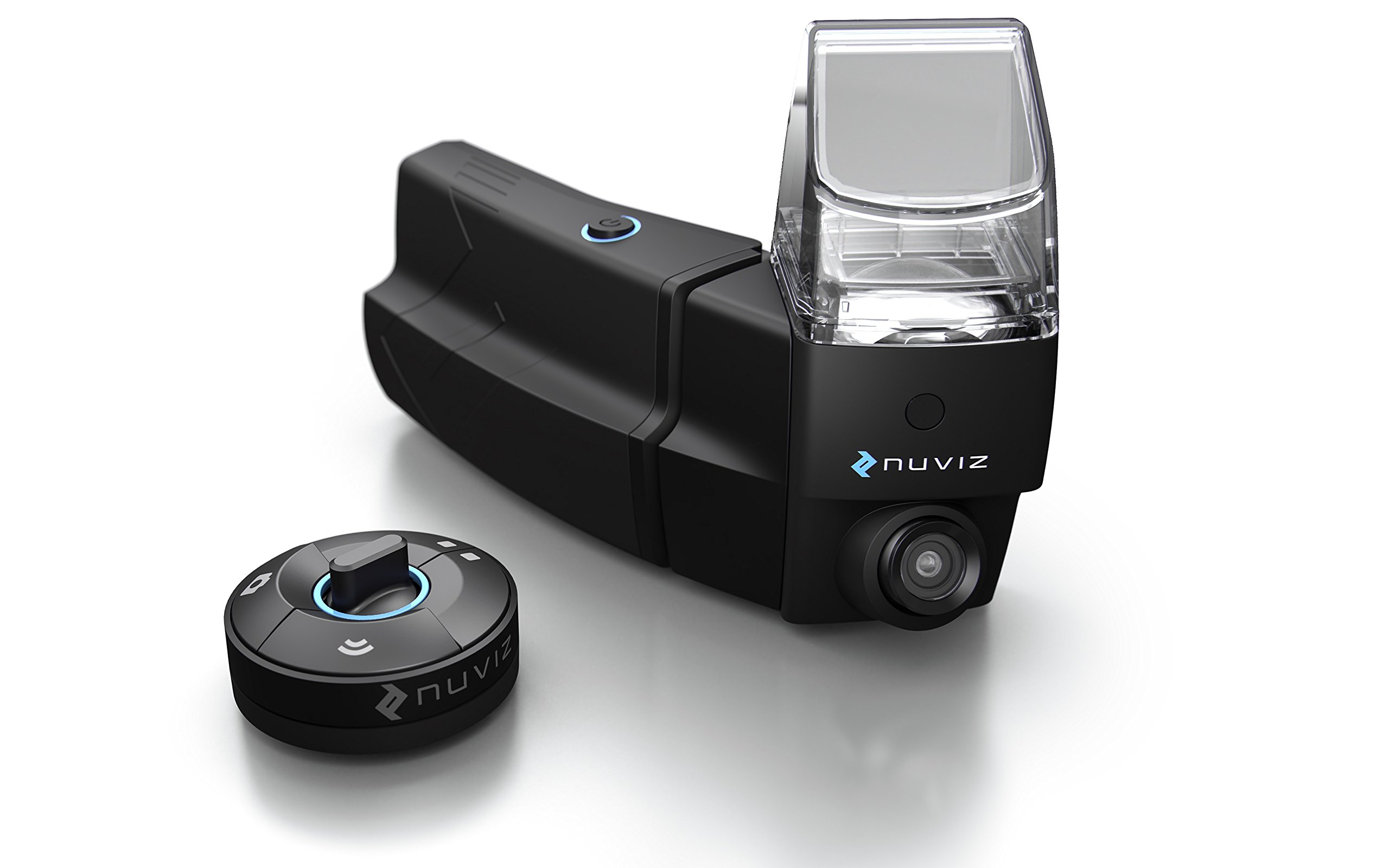 NUVIZ - Motorcycle Head-Up Display with integrated navigation, communication, camera and music
