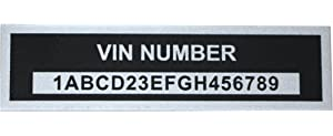 Amazon com: MACs Auto Parts 32-68530 Blank VIN Number Plate