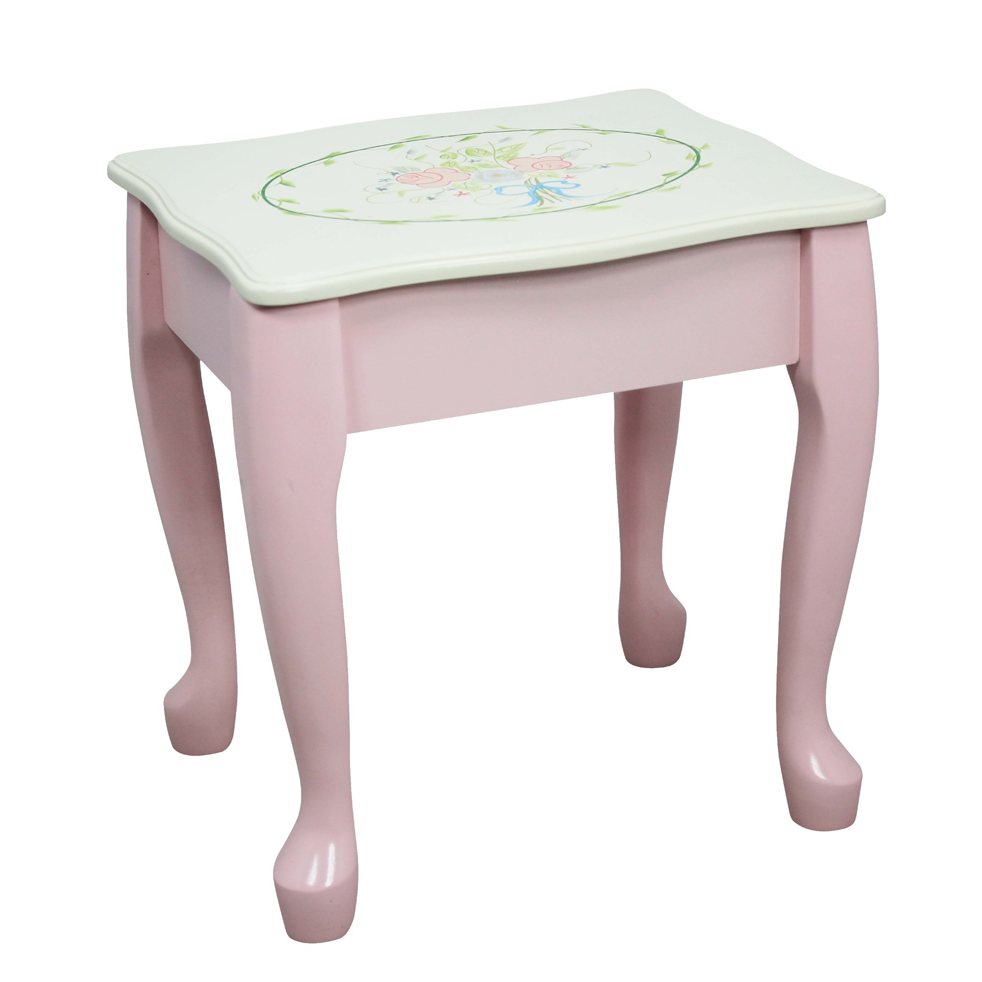 Fantasy Fields - Bouquet Thematic Kids Classic Vanity Table and Stool Set with Mirror   Imagination Inspiring Hand Crafted & Hand Painted Details   Non-Toxic, Lead Free Water-based Paint by Teamson Design Corp (Image #7)