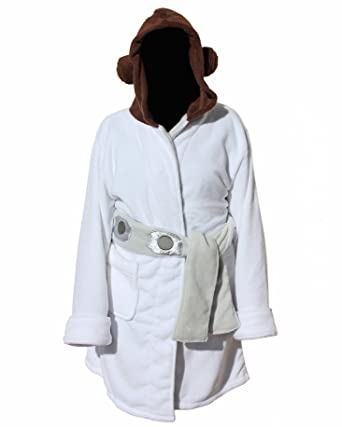 Star Wars Princess Leia Hooded Fleece Robe Standard