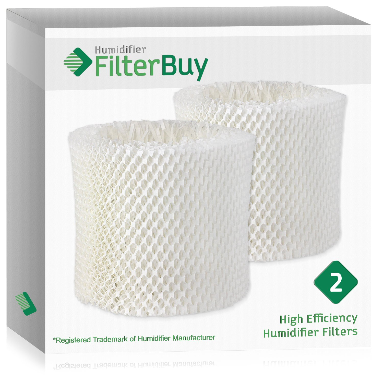2 - WF2 Kaz & Vicks Replacement Humidifier Wick Filters. Designed by FilterBuy in the USA.