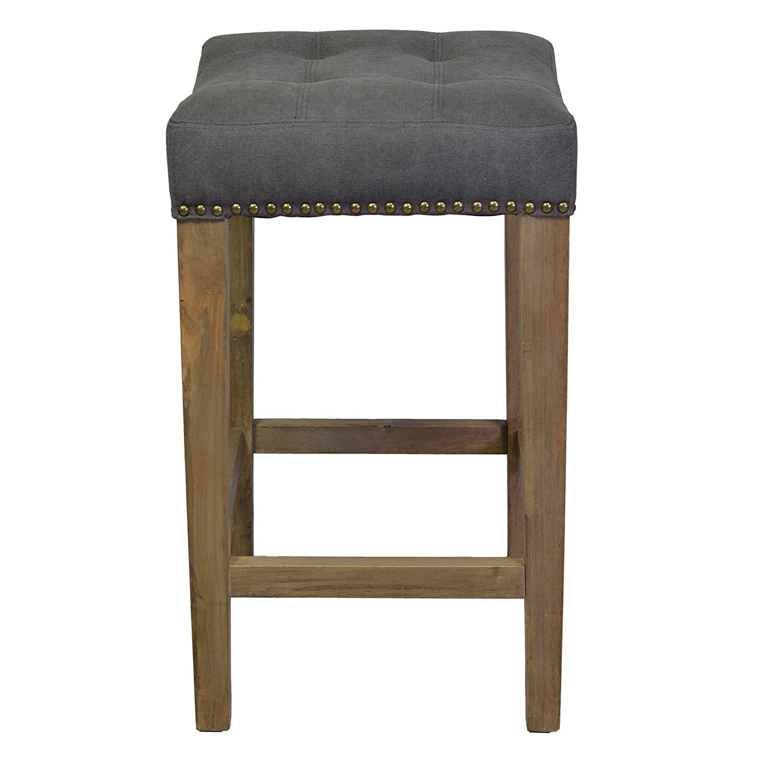Grey Counter Height Bar Stools Part - 45: Amazon.com: Design Tree Home Ash Counter Stool In Frost Grey: Kitchen U0026  Dining