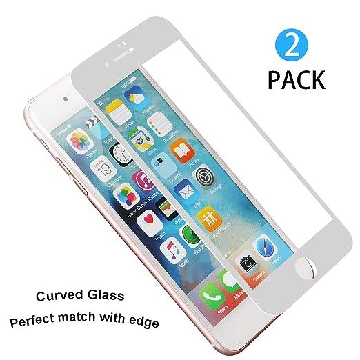 24 opinioni per 2 Pezzi Pellicola Protettiva iPhone 7, WEOFUN 3D Bordo Morbido Full Coverage