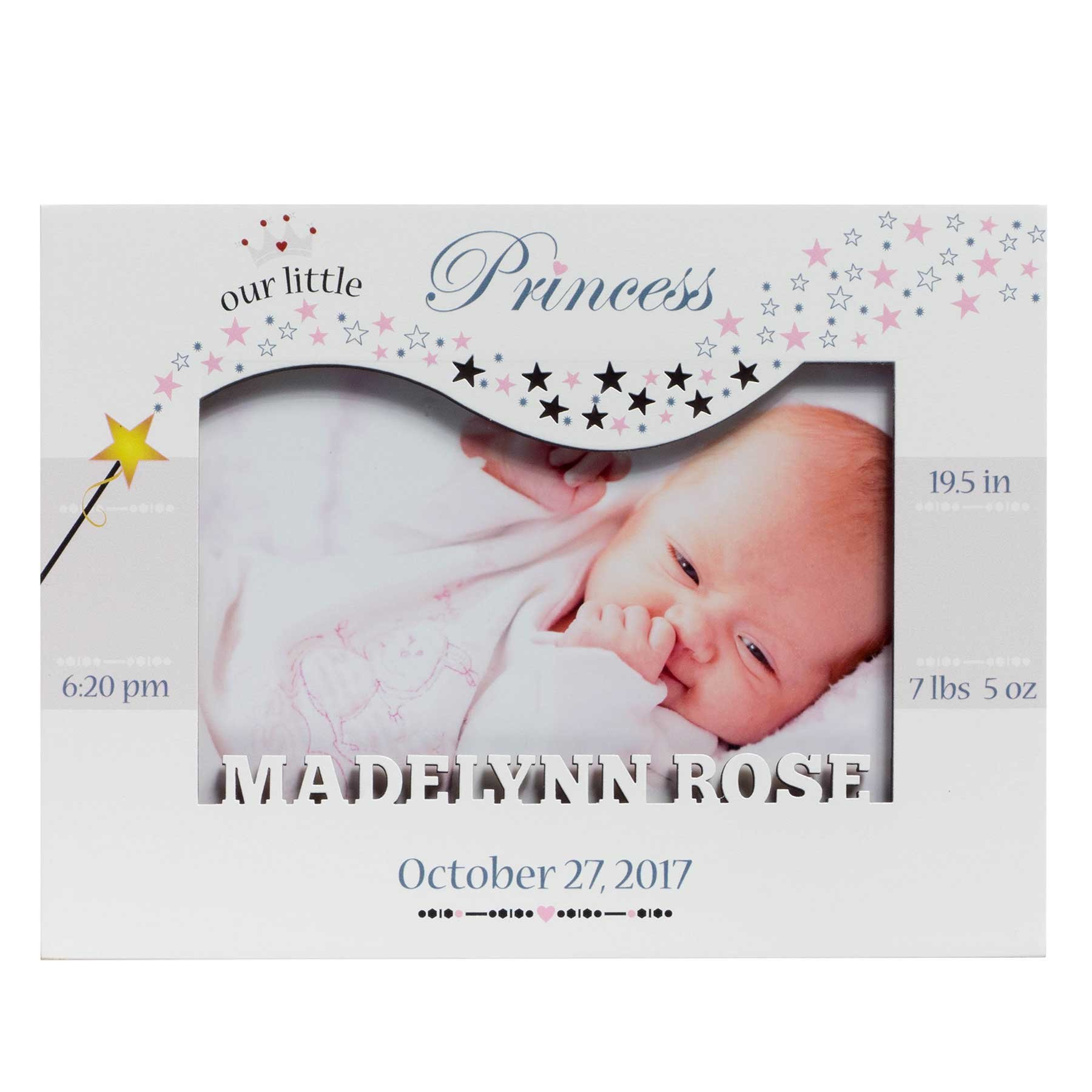 Personalized Baby Picture Frame, Baby Girl Picture Frame, New Baby Girl Frame, Baby Girl Frame, Picture Frame Baby Girl, Princess Frame with Silhouette Name