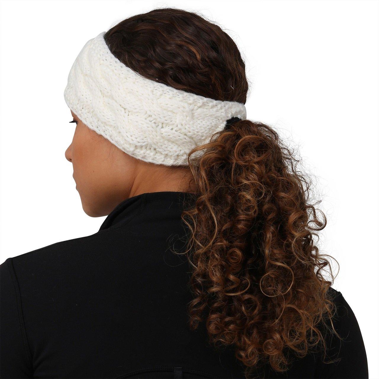 punto Cinta de bufanda Trailheads con orificio para coleta