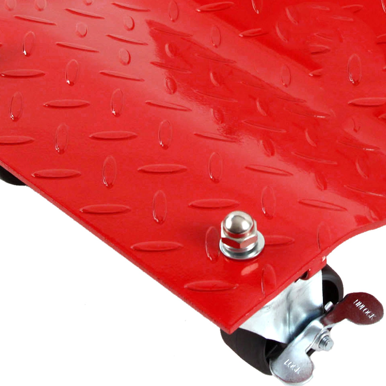 4 - Red 12'' Tire Premium Skates Wheel Car Dolly Ball Bearings Skate Makes Moving A Car Easy Furniture Movers by Red Hound Auto (Image #5)