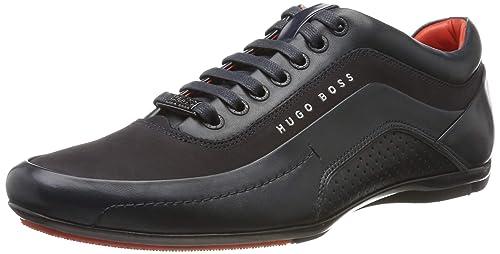 new product 6d47d f6e28 Hugo Boss, scarpe da ginnastica modello 'HB Racing' nere ...
