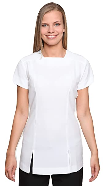793dc45efbf Mirabella Health and Beauty Clothing Women's Kallista Wear Hairdressing Spa  Massage Tunic Uniform 20 White