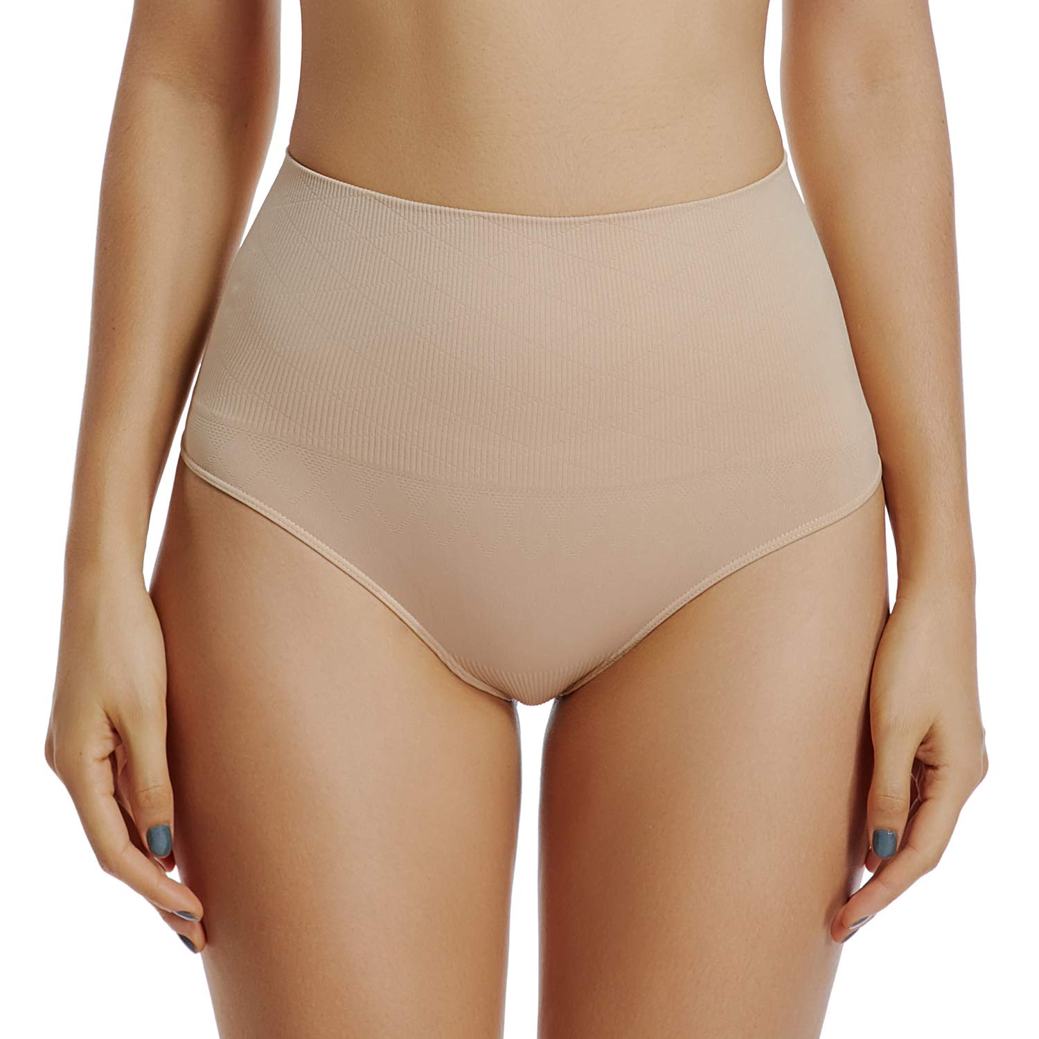 6bef333ec Thong Underwear for Women Thongs Shapewear High Waist Cincher Panty Tummy  Slimmer Sexy Panties Seamless at Amazon Women s Clothing store