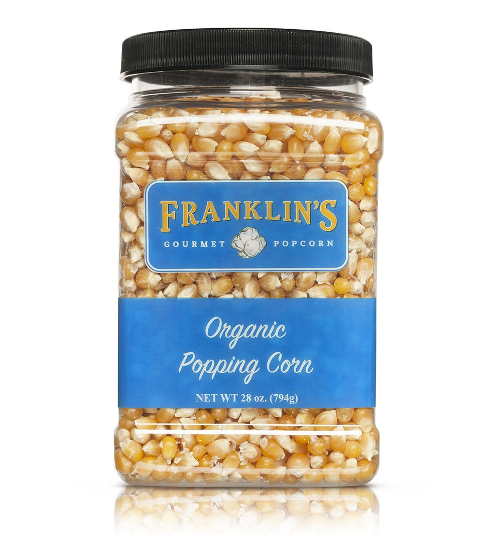 Franklin's Organic Popping Corn (28 oz). Make Movie Theater Popcorn at Home. by Franklin's Gourmet Popcorn (Image #5)