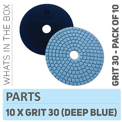 Stadea PPW152D Concrete Sanding Polishing Pads 4 Inch Grit 30 - Diamond  Pads For Concrete Terrazzo Marble Floor Granite Stone Counter Wet Polishing  -