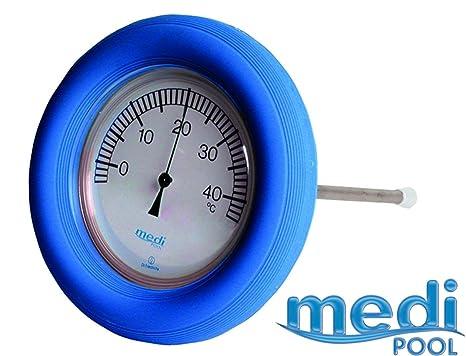 mediPOOL – Termómetro con sonda y flotador (– Azul Escala de fácil lectura, V2