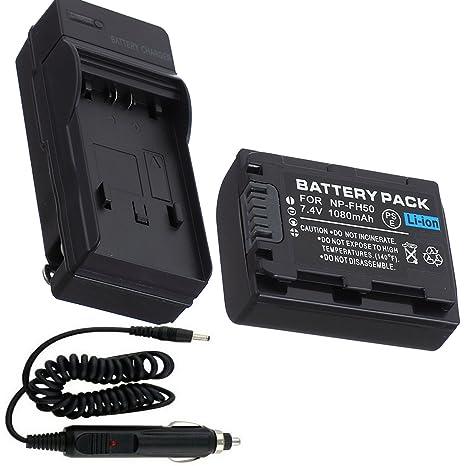 Batería + Cargador para Sony DCR-SR82, DCR-SR85, DCR-SR87 ...