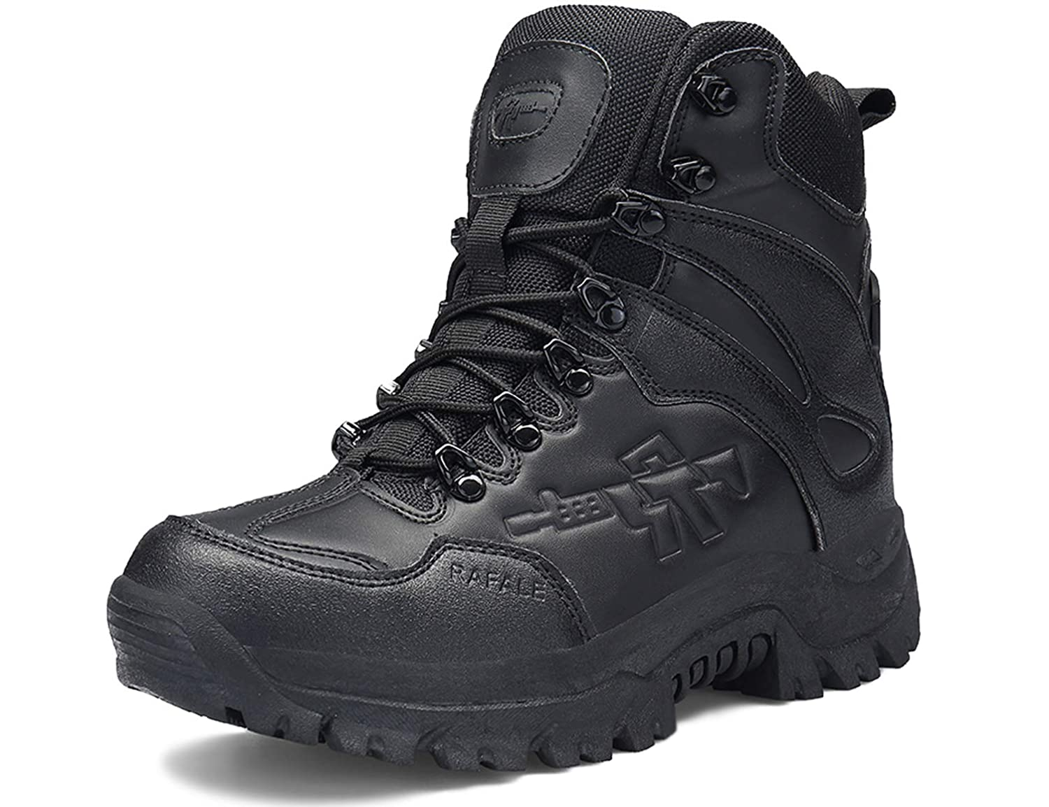 6394576b1c1 SINOES Shoes Work Utility Footwear Military Tactical Men,Mens Army Outdoor  Sports Camping Hiking Work Combat Lace Up Breathable High Top Side Zipper  ...