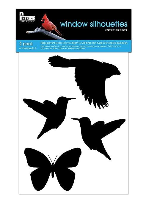 Bird Window Decals Silhouettes Amazonca Pet Supplies - Window alert hummingbird decals amazon