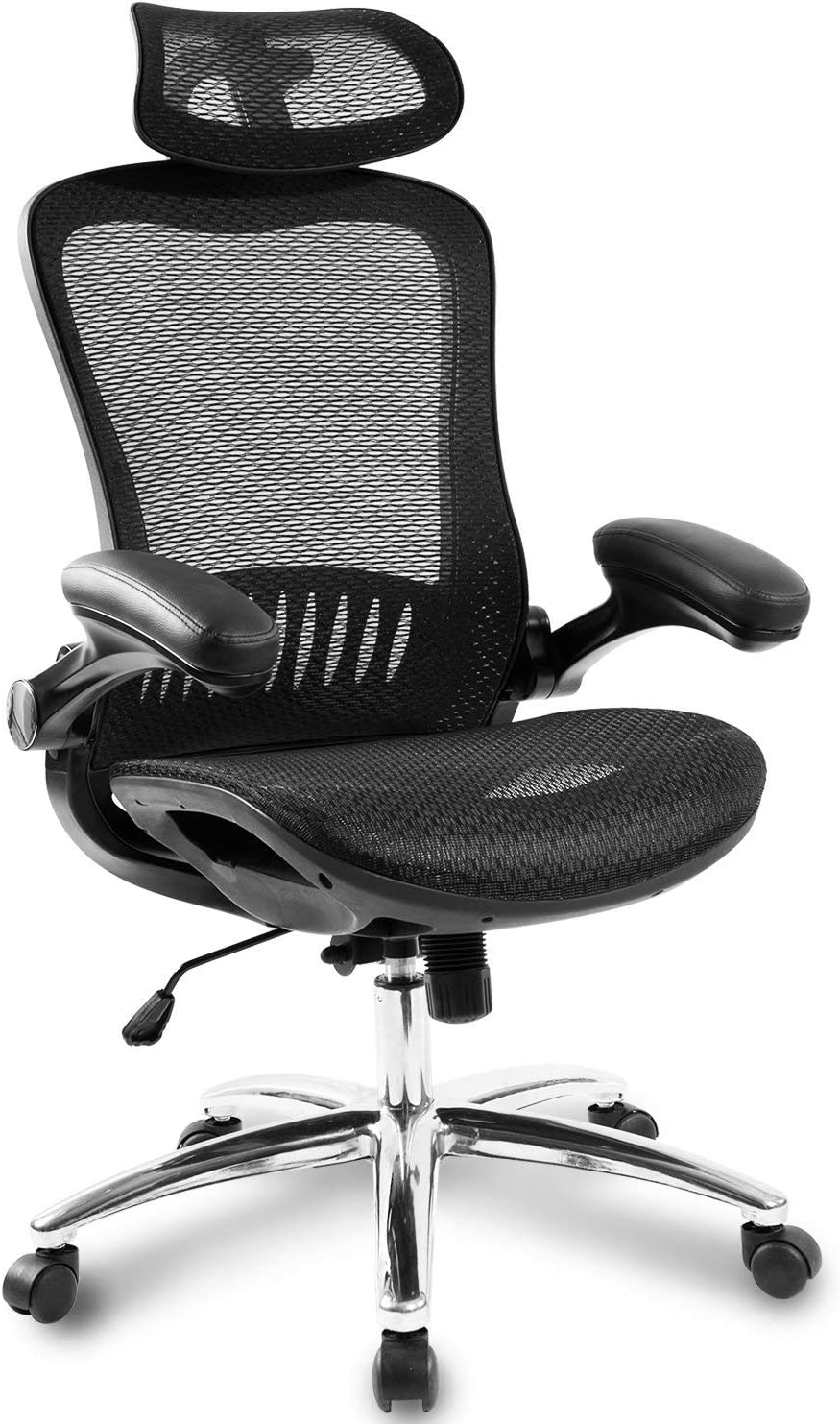 Racing Chair Office Computer Chair Ergonomic Gaming Chairs Home Office Desk Chair Lumbar Headrest Support (Dark Black)
