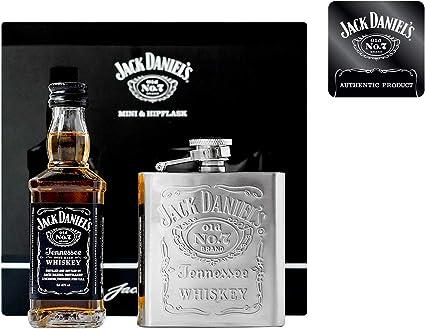 Jack Daniels - 5cl Old No. 7 Miniature & Hip Flask Gift Pack ...