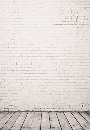 AOFOTO 10x10ft Artistic Backdrops Photography Background Whitewashed Worn Wall Blurry Wooden Floors Lovers Boy Kid Toddler Newborn Girl Portrait Scene Photo Shoot Studio Props Video