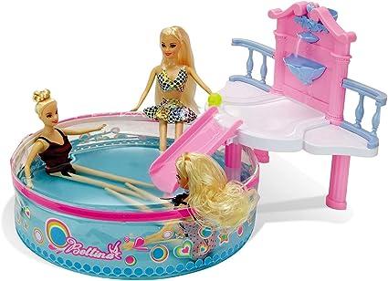 Glam Pool Playset Con Muñeca De Playa De 11 5 Pulgadas Accesorios Para Muñecas Juguetes Para Piscina Baño O Lago Juguetes De Baño Para Niñas Juguetes De Agua Toys Games