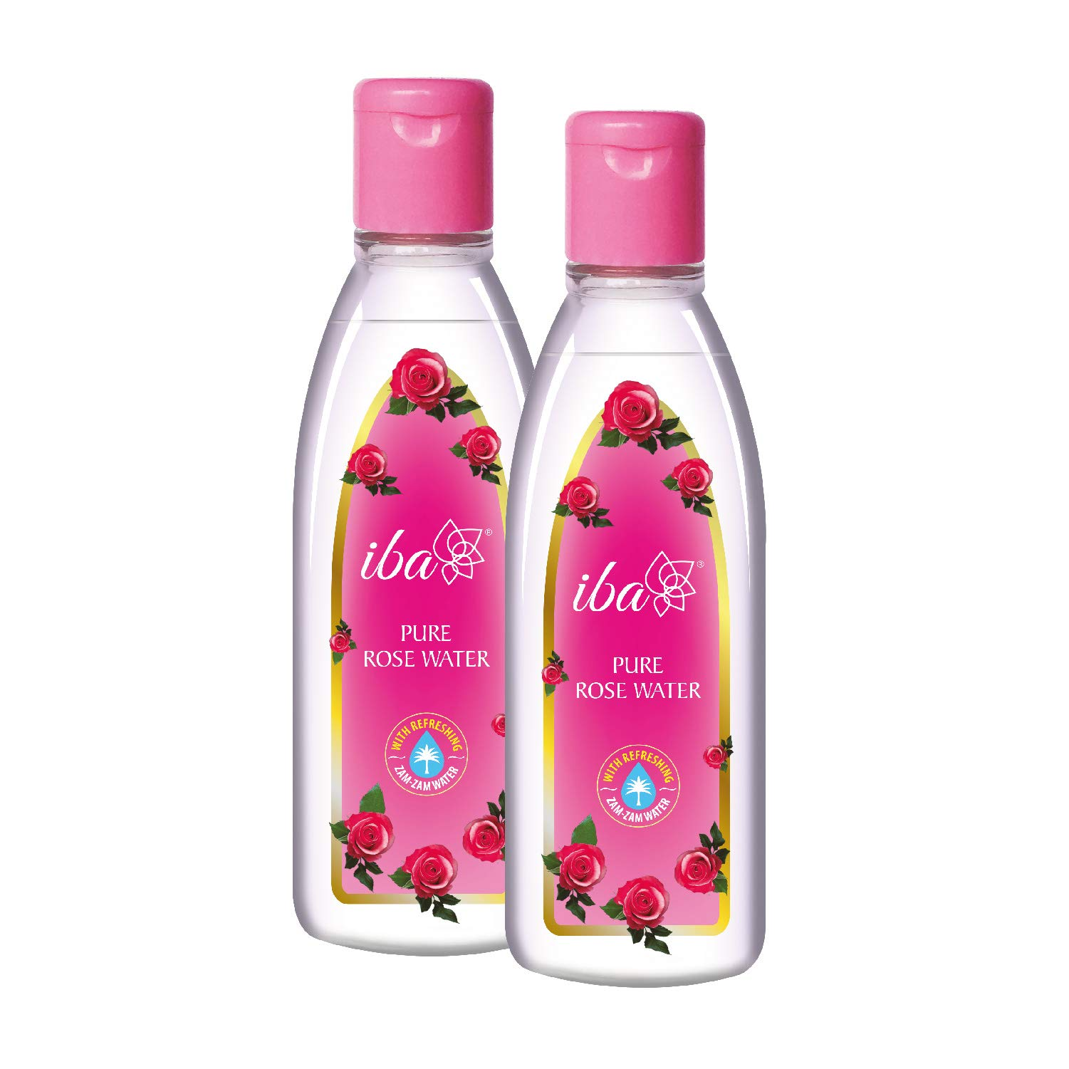 Iba Halal Care Pure Rose Water, 105 ml (Pack of 2)