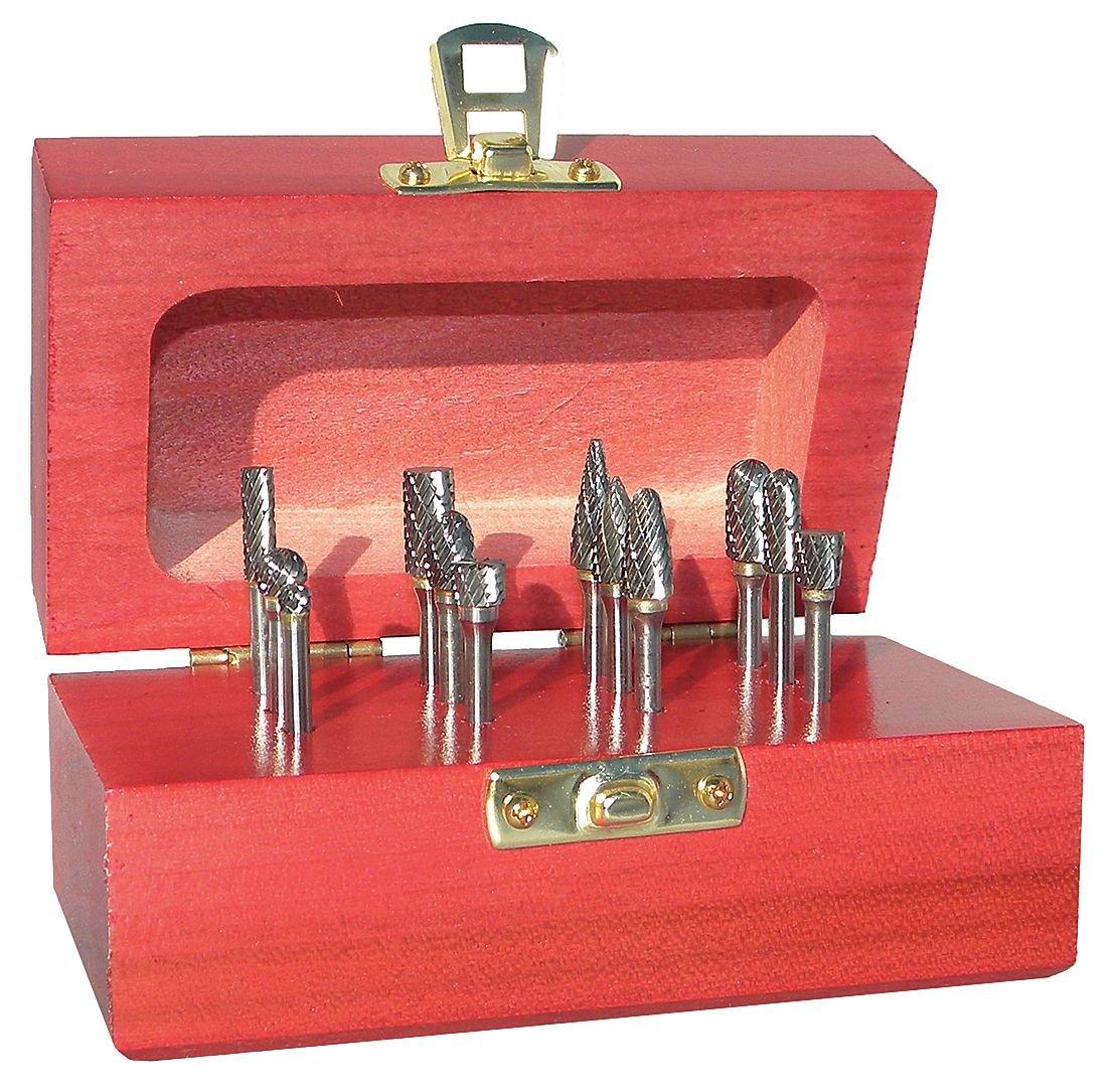 Monster Tool - 310-120026 - Carbide Bur Set, Double Cut, 12 piece