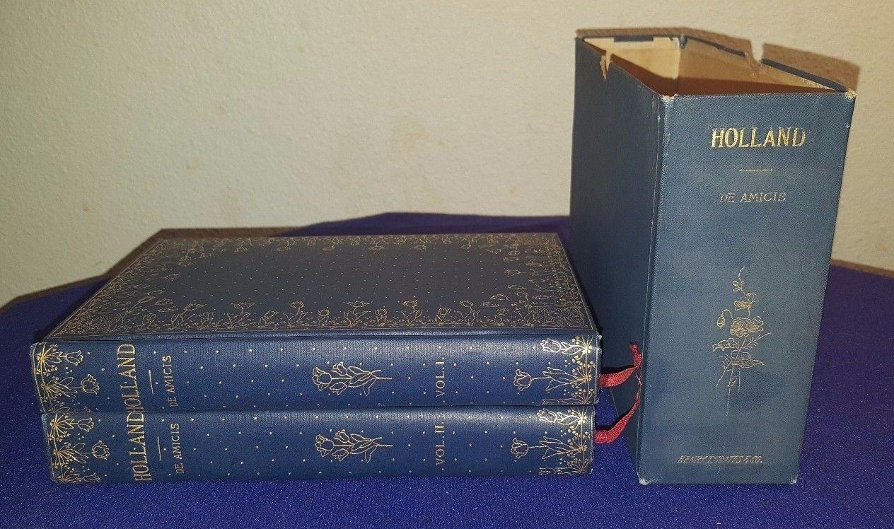 1894 HOLLAND by EDMONDO DE AMICIS Hardcover 2 Book BOXED Set EXCELLENT ebook