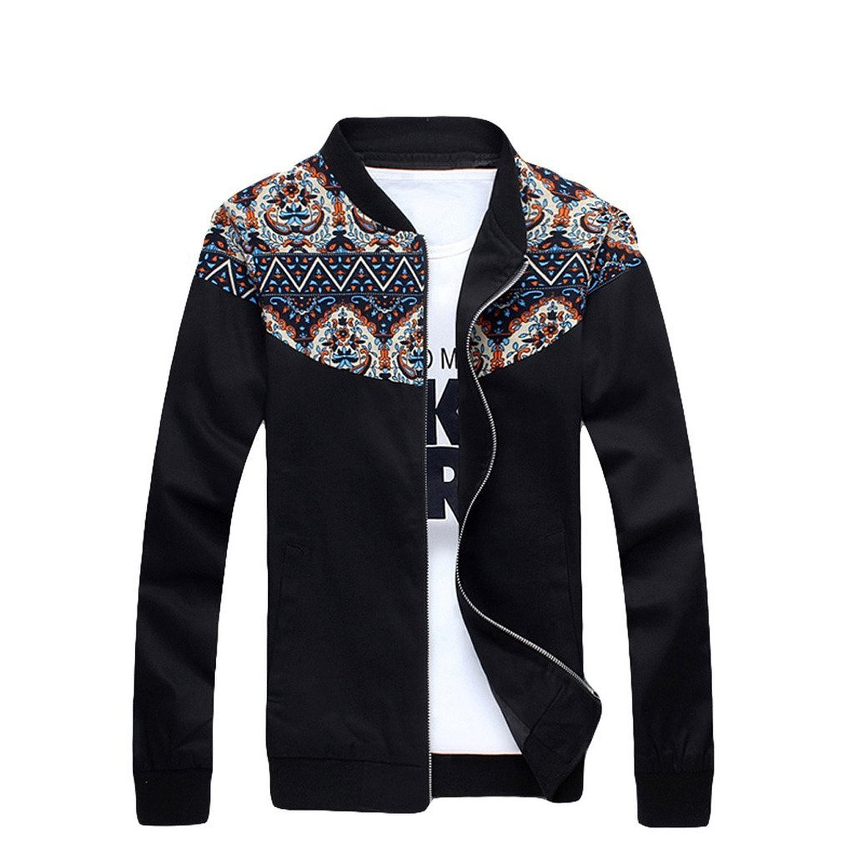 Xinmingyue Mens Long Sleeve Spring Autumn Warm Zipped Running Jacket Coat Outerwear