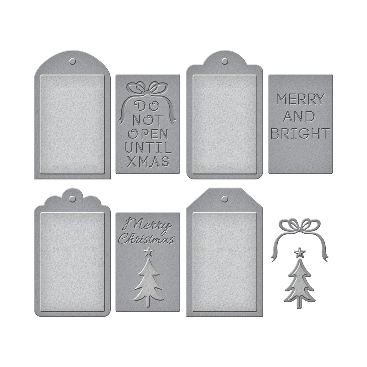 Spellbinders Shapeabilities Die Set con Natale, in metallo, colore: marrone S5-265