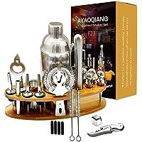 AYAOQINAG Cocktail Mixing Set, 23 stuks Cocktail Shaker Set voor Bartender, 750ml RVS Bar Tool Kit met Houten Display…