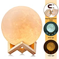AGM Moon Lamp 3D Moon Night Light Touch Sensor Table Lamp,Dimmable Color Changing LED lamp for Baby Bedside Lamp(Large/15cm)