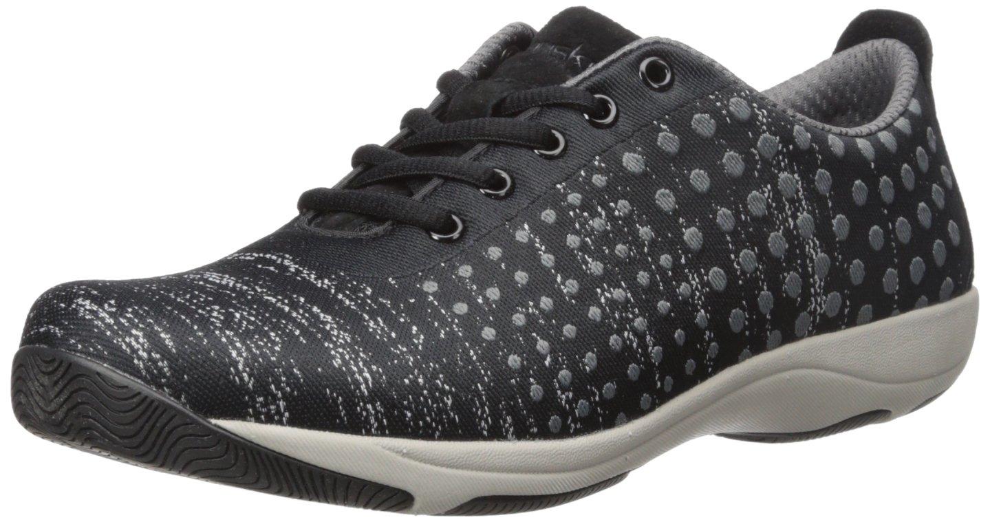 Dansko Women's Hanna Fashion Sneaker B01A05KCJ8 37 EU/6.5-7 M US|Black/Grey Dot