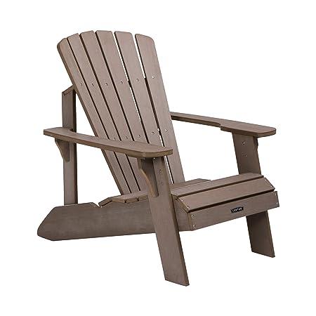 Lifetime 60283 Adirondack Chair, Light Brown