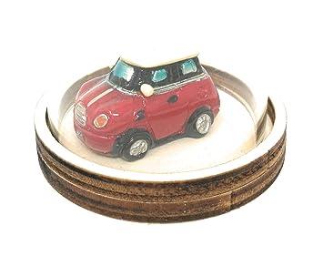Unbekannt Glasglocke Mit Auto Mini Cooper Fur Geldgeschenk