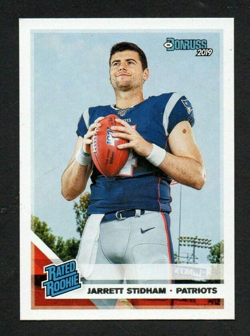 Amazon Com 2019 Donruss Football Rated Rookie 307 Jarrett Stidham New England Patriots Official Nfl Football Rc Rookie Card Made By Panini Collectibles Fine Art