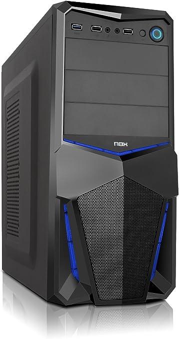 Nox PAX - NXPAX - Caja PC, ATX, USB 3.0, Color Negro Azul: Nox: Amazon.es: Informática