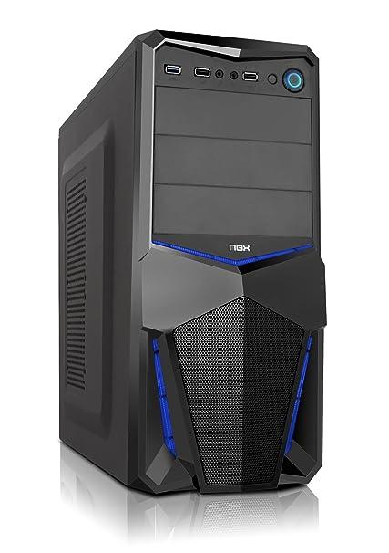 Nox PAX - NXPAX - Caja PC, ATX, USB 3.0, Color Negro Azul