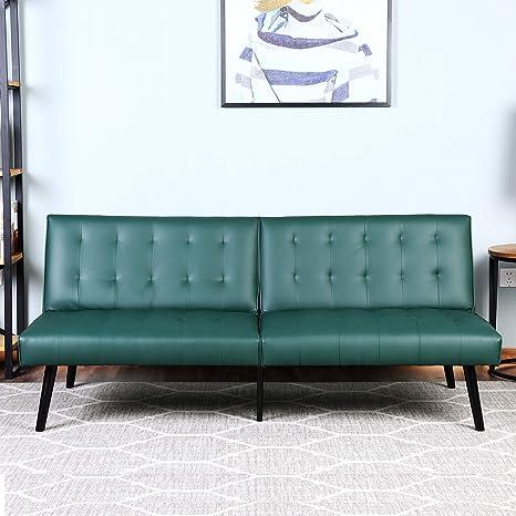 Strange Amazon Com Bonzy Home Futon Sofa Bed Pu Leather Futon Alphanode Cool Chair Designs And Ideas Alphanodeonline